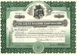 Cigar Machine Corporation of America - Delaware 1917