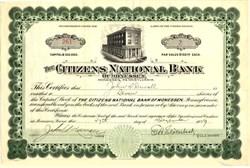 Citizens National Bank of Monessen - Pennsylvania 1929