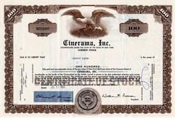 Cinerama, Inc 1960's - Early Hollywood Wide Screen Movie Maker  (Pre Imax & Pre HD & Pre 3D)