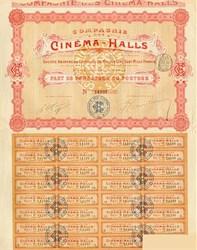 Cinema Halls Stock Certificate 1907
