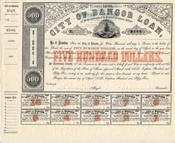 City of Bangor Loan - Bangor, Maine 1855