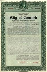 City of Concord - North Carolina 1949