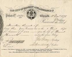 City of Glasgow Life Assurance Co. - Scotland, United Kingdom - 1875