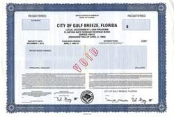City of Gulf Breeze, Florida 1989