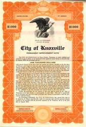 City of Knoxville - Tennessee 1935