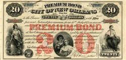 City of New Orleans Premium Bond - Louisiana 1875