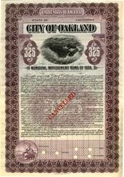 City of Oakland Municipal Improvement Bond of 1909 - California