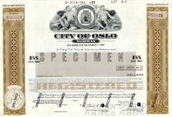 City of Oslo, Norway Bond 1977