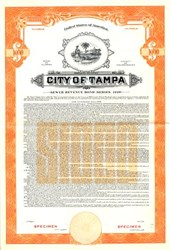 City of Tampa Sewer Revenue Bond - Florida 1949