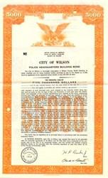 City of Wilson Police Headquarters Building Bond - North Carolina 1972