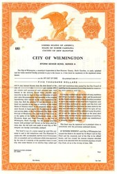 City of Wilmington Sanitary Sewer Bond, Series A - North Carolina 1964