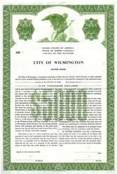 City of Wilmington Water Bond - North Carolina 1964