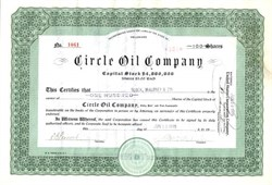 Circle Oil Company - Delaware 1919