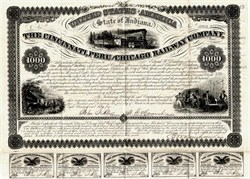 Cincinnati, Peru & Chicago Railway Company (Famous Supreme Court Case) - 1855