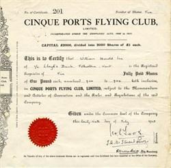Cinque Ports Flying Club - England 1928
