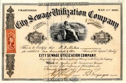 City Sewage Utilization Company - Philadelphia, Pennsylvania 1871