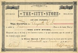 The City Store - San Jose, California 1902