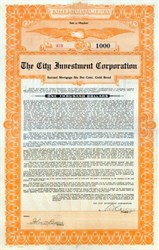 City Investment Corporation 1922 - Maryland Gold Bond