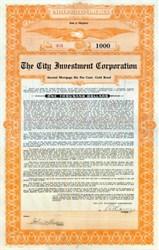 City Investment Corporation 1922 - Maryland Gold Bond