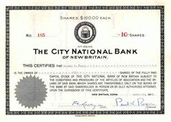 City National Bank - New Britain, Connecticut