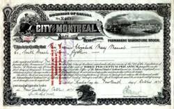 City of Montreal 3% Permanent Debenture Stock 1935