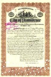 City of Providence Point Street Bridge Draw Loan 1929 - Gold Bond