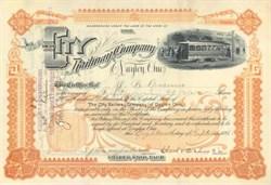 City Railway Company 1893 - Dayton, Ohio - Electric Railway Vignette