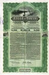 City of Tokyo Bond (Ville of Tokyo) - Japan 1912