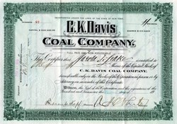 C. K. Davis Coal Company ( located in Wellston, Ohio)  - New York 1910