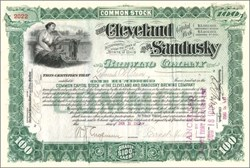 Cleveland and Sandusky Brewing Company - Ohio 1902