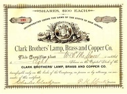 Clark Brothers' Lamp, Brass and Copper Company 1890's