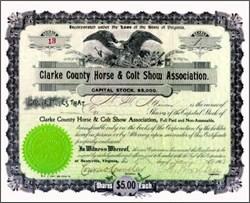 Clarke County Horse & Colt Show Association 1902 - Berryville, Virginia