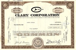Clary Corporation - California 1978