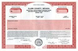 Municipal Bond - Clark County, Nevada - 1990