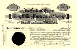 Clear Creek and Gilpin Mining, Milling, Power, Tunnel, Drainange and Transportation Company - 1903