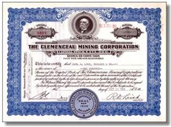 Clemenceau Mining Corporation 1940's