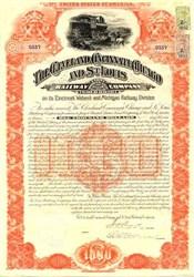 Cleveland, Cincinnati, Chicago, St. Louis WALBASH Gold Bond 1891
