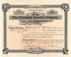 Cleveland Novelty Company 1892 - Cleveland, Ohio