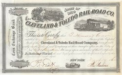 Cleveland & Toledo Railroad - 1862 - Civil War Era