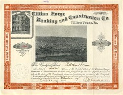 Clifton Forge Banking and Construction Co. - Virginia 1899
