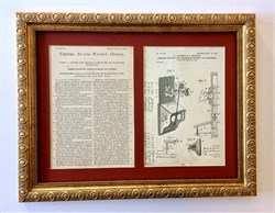 Framed Telephone Patent dated 1903 used for reference in the United States Patent and Trademark Office
