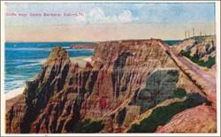 Cliffs near Santa Barbara, Cal. Postcard