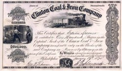 Clinton Coal & Iron Company - Pennsylvania 1864