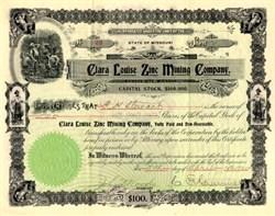 Clara Louise Zinc Mining Company - Kansas City, Missouri 1900