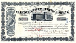 Clifton Manufacturing Company - South Carolina 1903