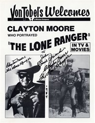 Lone Ranger Photograph - Signed by Clayton Moore - 1987