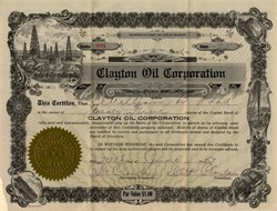 Clayton Oil Corporation - 1923