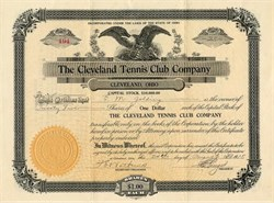 Cleveland Tennis Club Company - Ohio 1915