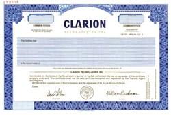 Clarion Technologies, Inc. - Delaware