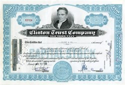 Clinton Trust Company (Now JPMorgan Chase Bank) - Great Gift for Hillary Supporter